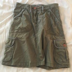 H&M L.O.G.G. Military Green Cargo Skirt